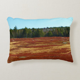 Blueberry Barrens Gouldsboro, Maine Decorative Pillow