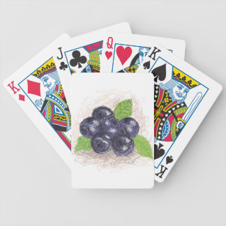 blueberry bicycle playing cards