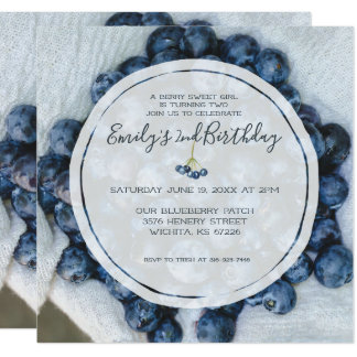 Blueberry Birthday Party Card
