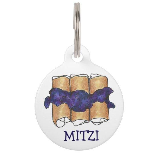 Blueberry Blintz Blintzes NYC Jewish Deli Food Tag