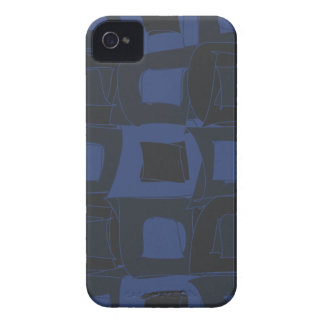 Blueberry Blue Abstract Design Case-Mate iPhone 4 Case