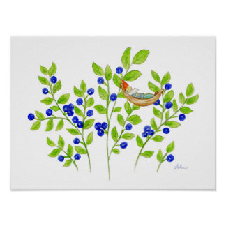 Blueberry Bush Gnome art print