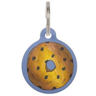 Blueberry Cake Donut Doughnut Blue Berry Junk Food Pet Name Tag
