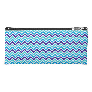 Blueberry Chevron Pattern Zig Zag blue pencil case