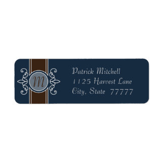 Blueberry Classic Harvest Return Address Labels