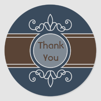 Blueberry Classic Harvest Thank You Sticker