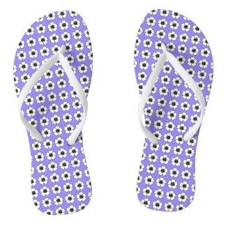 Blueberry-Cottage-Flower's_Teen-ADULT-Unisex Flip Flops
