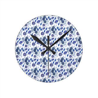 blueberry crush round clock