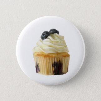Blueberry cupcake 2 inch round button