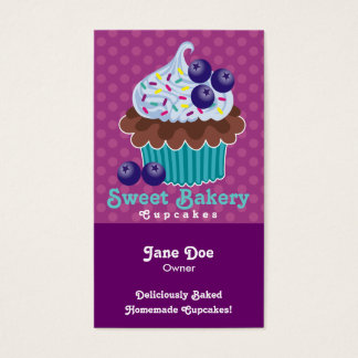 Blueberry Cupcake Business Cards TBA