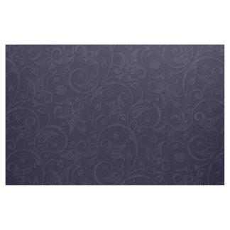 Blueberry Damask Style Brocade Fabric