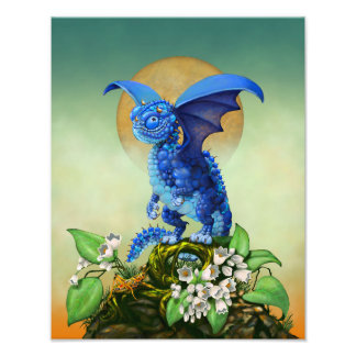 Blueberry Dragon 11x14 Print