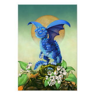 Blueberry Dragon 13x19 Print