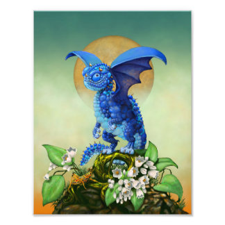 Blueberry Dragon 8.5x11 Print