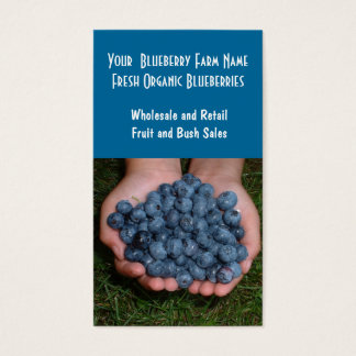 Blueberry Farm or Sales Business Card