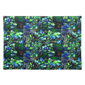 Blueberry - green hue placemats