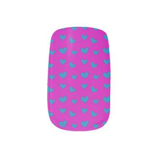Blueberry Hearts Minx Nail Art