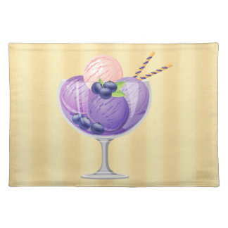 Blueberry Ice Cream Placemats