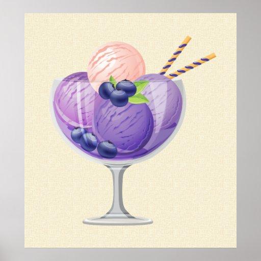 Blueberry Ice Cream Print