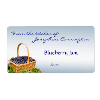 Blueberry Jam Canning Labels