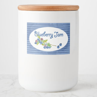 Blueberry Jam Preserves Food Label