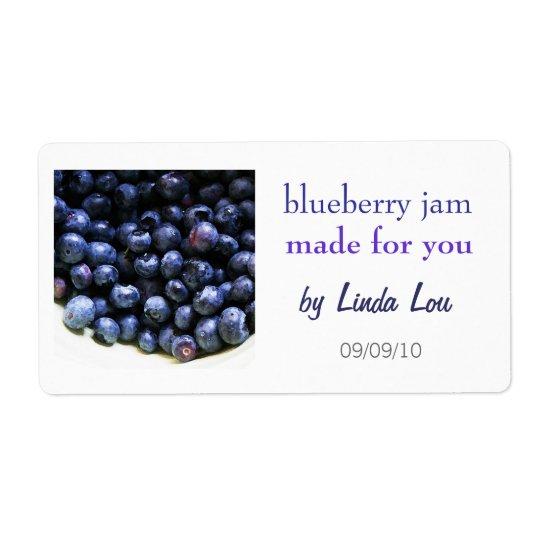 Blueberry Jam Preserves Label