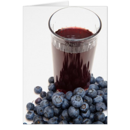 Blueberry juice card