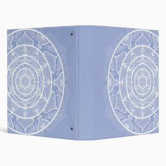 Blueberry Mandala 3 Ring Binder