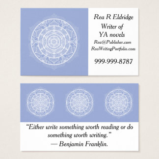 Blueberry Mandala Business Card