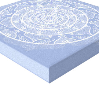 Blueberry Mandala Canvas Print