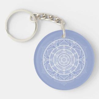 Blueberry Mandala Keychain