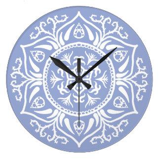 Blueberry Mandala Large Clock