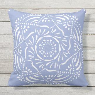 Blueberry Mandala Outdoor Pillow
