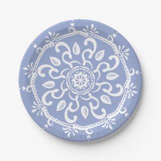 Blueberry Mandala Paper Plate