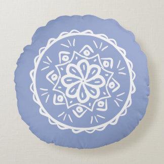 Blueberry Mandala Round Pillow