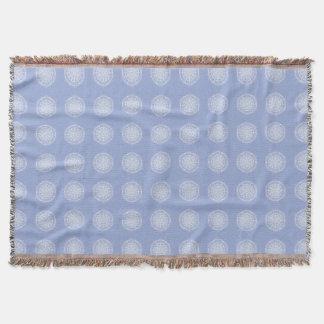 Blueberry Mandala Throw Blanket