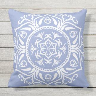 Blueberry Mandala Throw Pillow