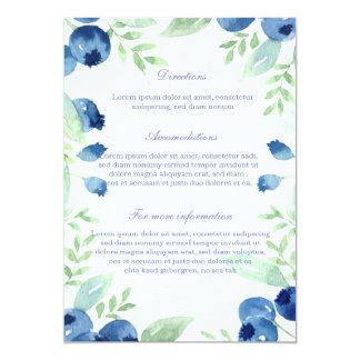 Blueberry Midsummer Rustic Berry Wedding Card