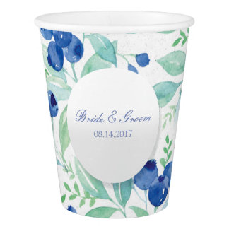 Blueberry Midsummer Rustic Wedding Paper Cup