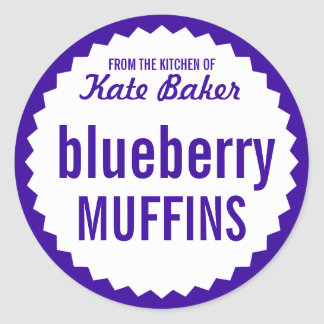 Blueberry Muffin Bake Sale Label Template