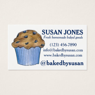 Blueberry Muffin Baked By Bakery Baking Pastry Business Card