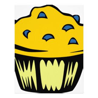Blueberry Muffin Cartoon Letterhead