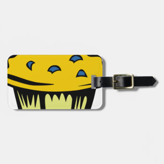 Blueberry Muffin Cartoon Luggage Tag