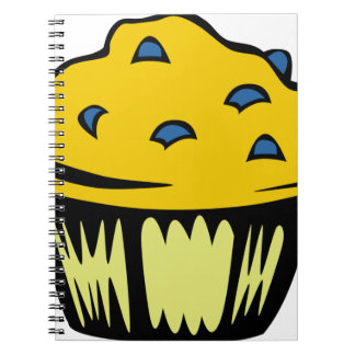 Blueberry Muffin Cartoon Notebook