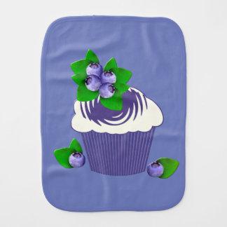 Blueberry Muffin Purple Burp Cloths