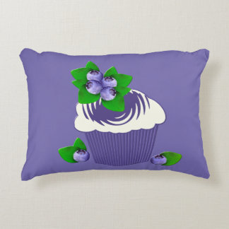 Blueberry Muffin Purple Decorative Pillow