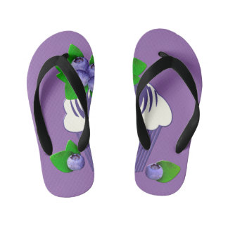 Blueberry Muffin Purple Kid's Flip Flops