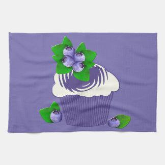 Blueberry Muffin Purple Kitchen Towel