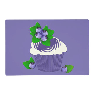 Blueberry Muffin Purple Laminated Placemat