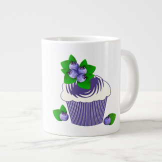 Blueberry Muffin Purple Large Coffee Mug